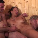 Leila gangbang hard au sauna