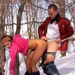 Shaina baisée et enculée au ski